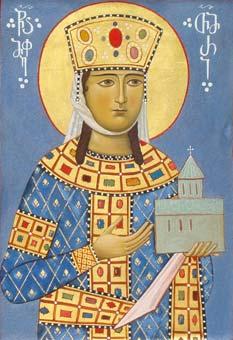 წმ. თამარ მეფის ხატი  ზედა ვარძიის დედათა მონასტრიდან