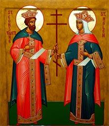 მოციქულთასწორნი კონსტანტინე დიდი და დედოფალი ელენე
